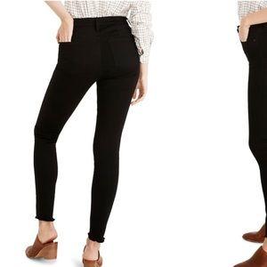 Madewell 9 inch high rise skinny jeans raw hem 30